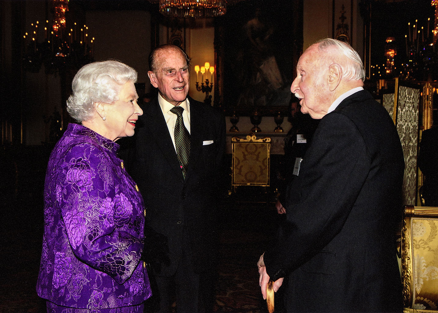Photo of when Dennis Wilson Meets the Queen & the Duke of Edinburgh